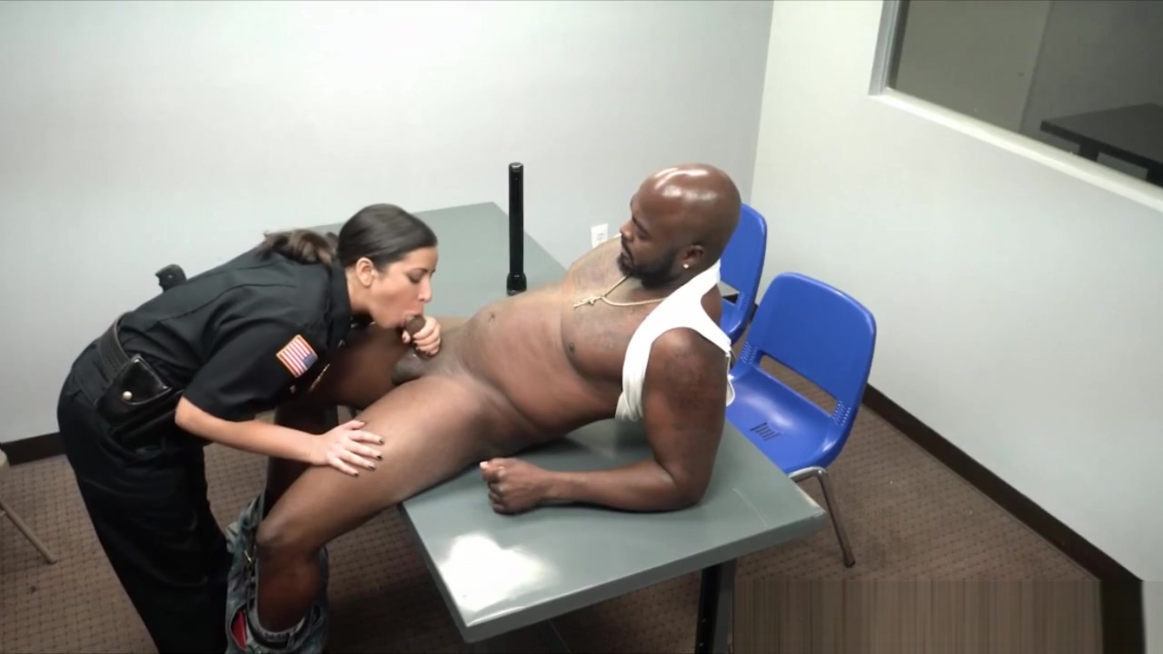Femdom cops cockride and facesit on black guy