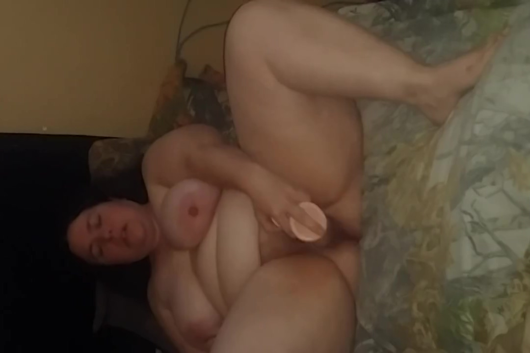 BBW Wife playing with toys tushy megan rain anal gaping and deep anal creampie 3