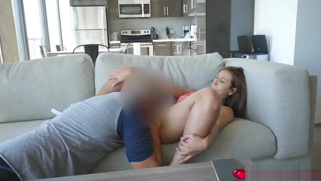 Sweet babe Demi Lopez giving her all for pleasure wife masturbates husband and massages prostate