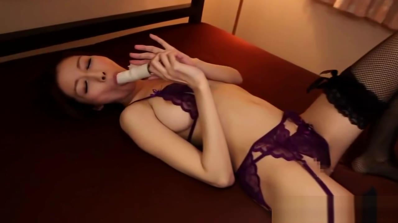 Busty Japanese lady stockings masturbation 3P Mili jay nude