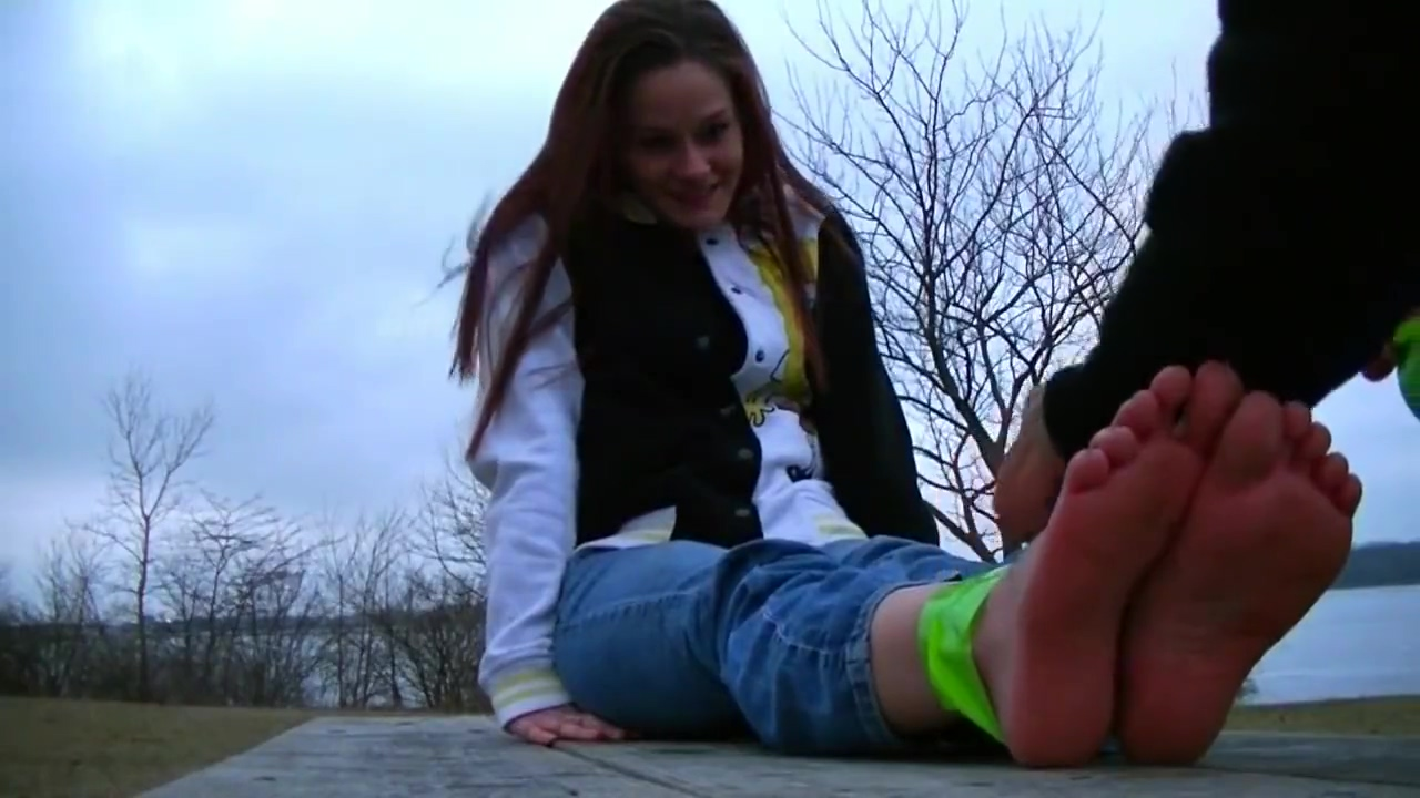 Bondage Duct Taped Photo Shooting Outdoor Bare ass public spanking