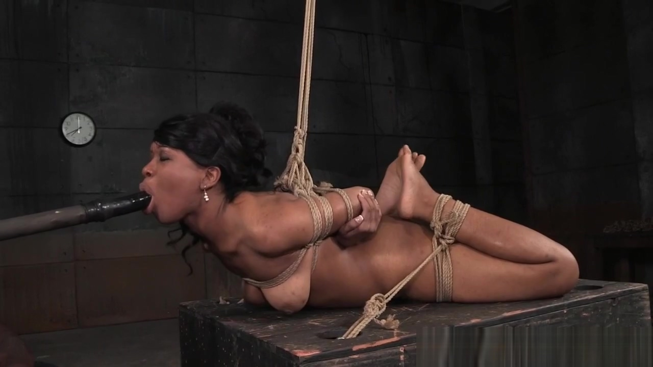 Hogtied ebony sub disciplined with toys max dont have sex with your ex