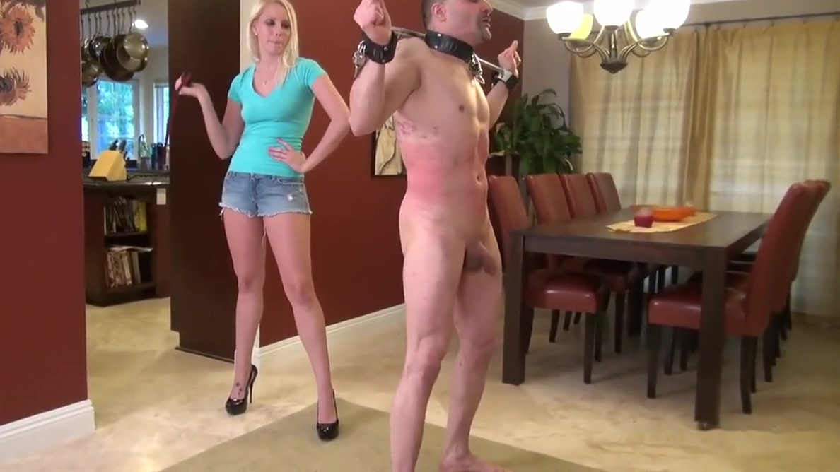 Whipped by hot blonde mistress Vanessa muscular men fucking womensex