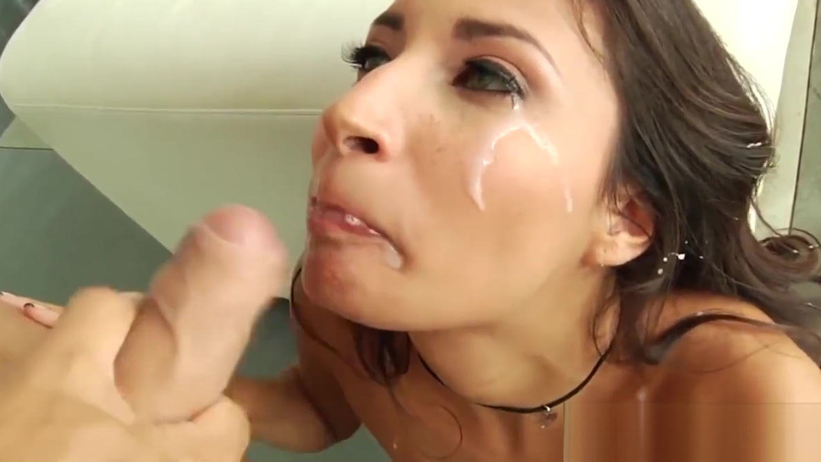 Gonzo babe assfucked and facialized