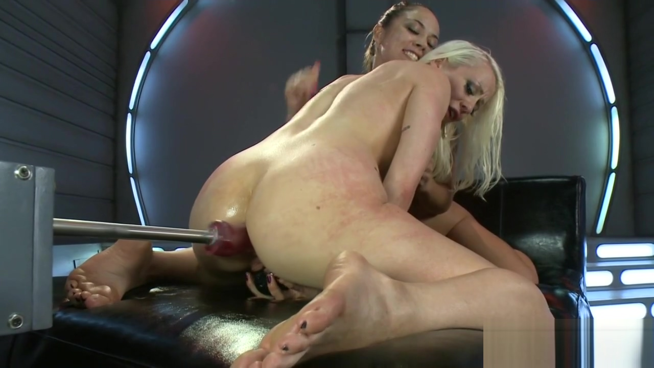 Machine loving babes stretching pussies Janie young deep throat