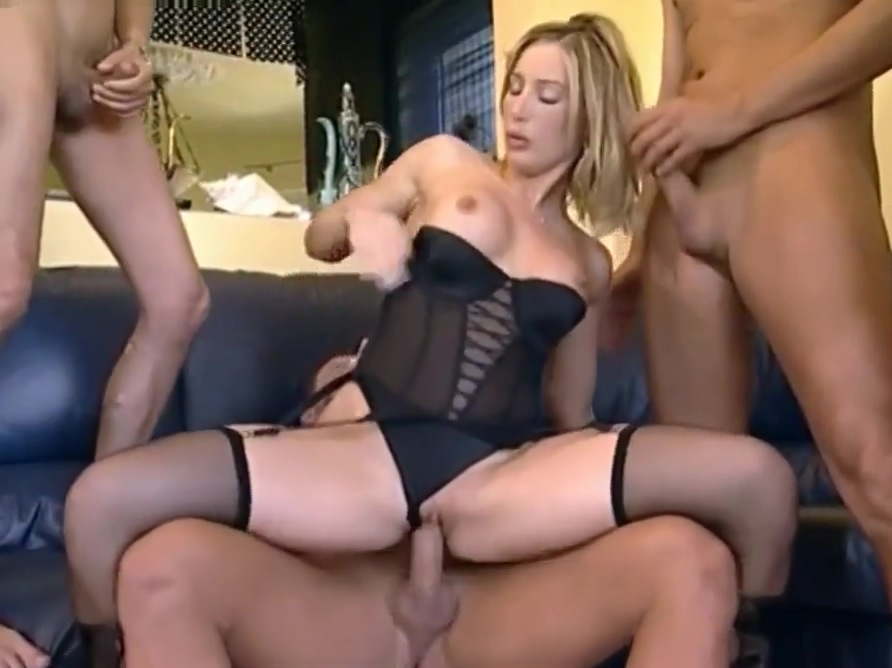 Sweet young blonde in group Female licking vagina
