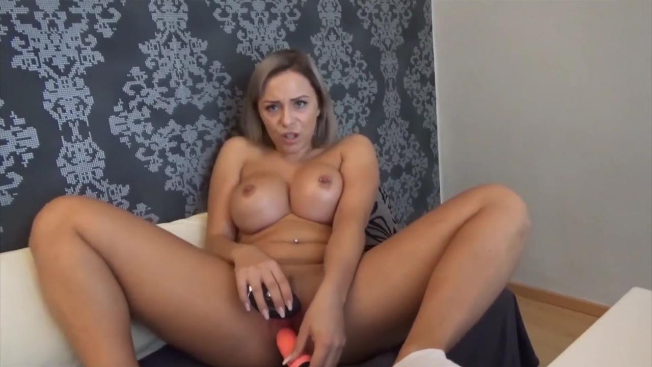 Busty Milf Plays With Dildo Solo Masturbation