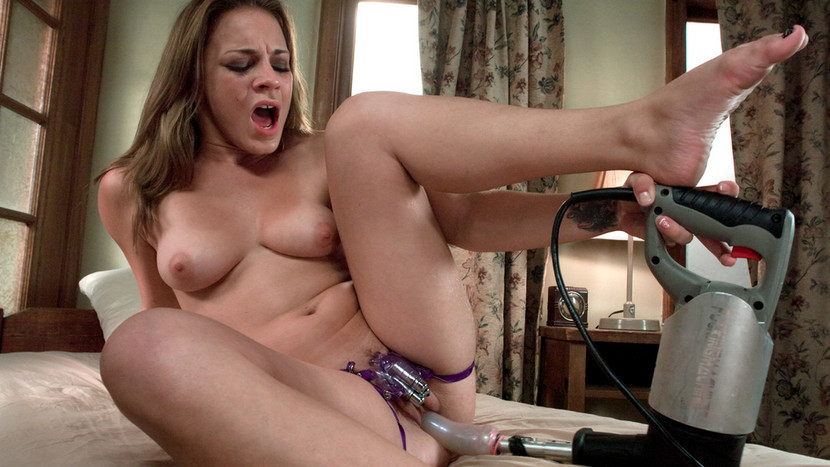 Exotic fetish sex scene with amazing pornstar Kirra Lynne from Fuckingmachines