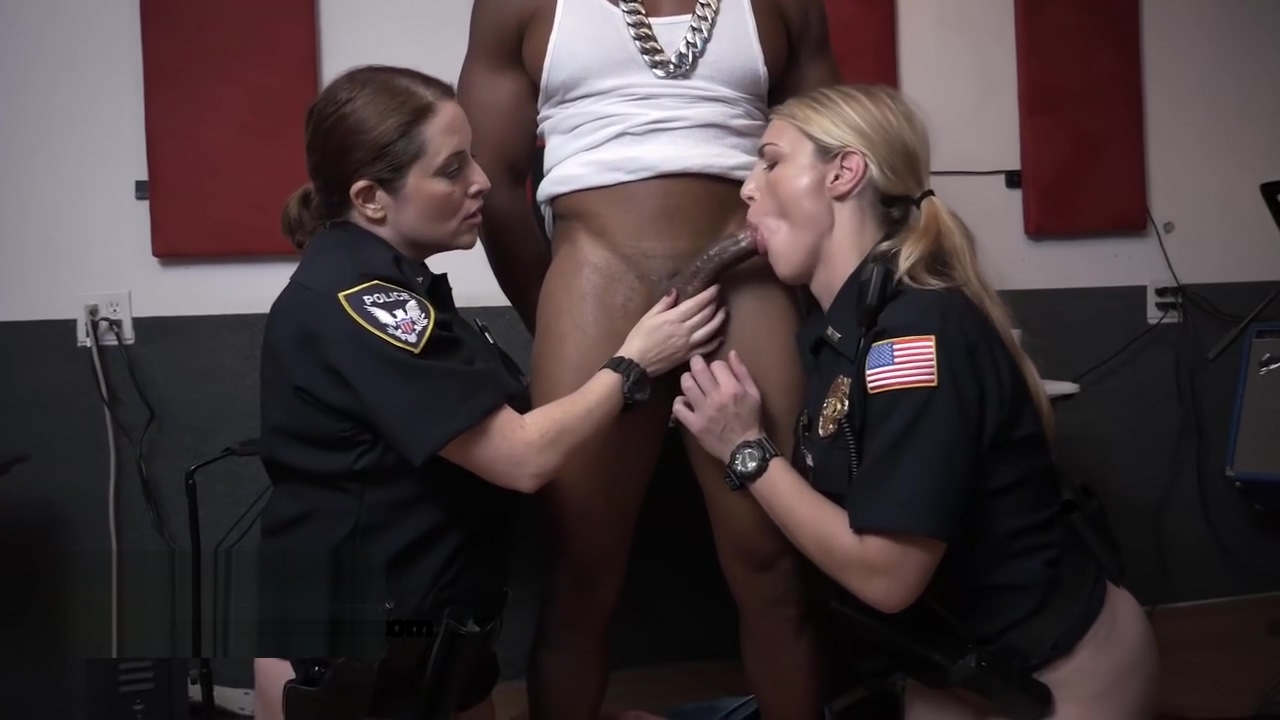 Naughty cops sharing black dick Amateur mature woman porn