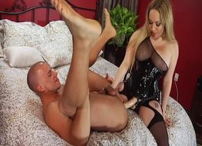 Black dildo on table New porn