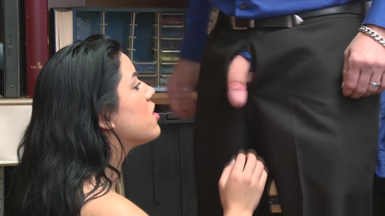 Monica Sage Finally Gets It For Shoplifting Yang woman blowjob dick and pissing