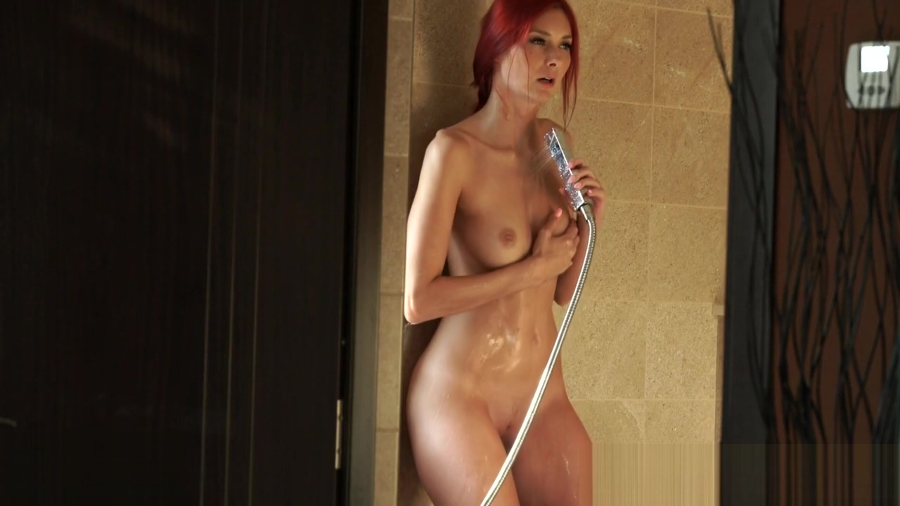 Gorgeous redhead masturbates in the shower Talk dirty while i jerk off