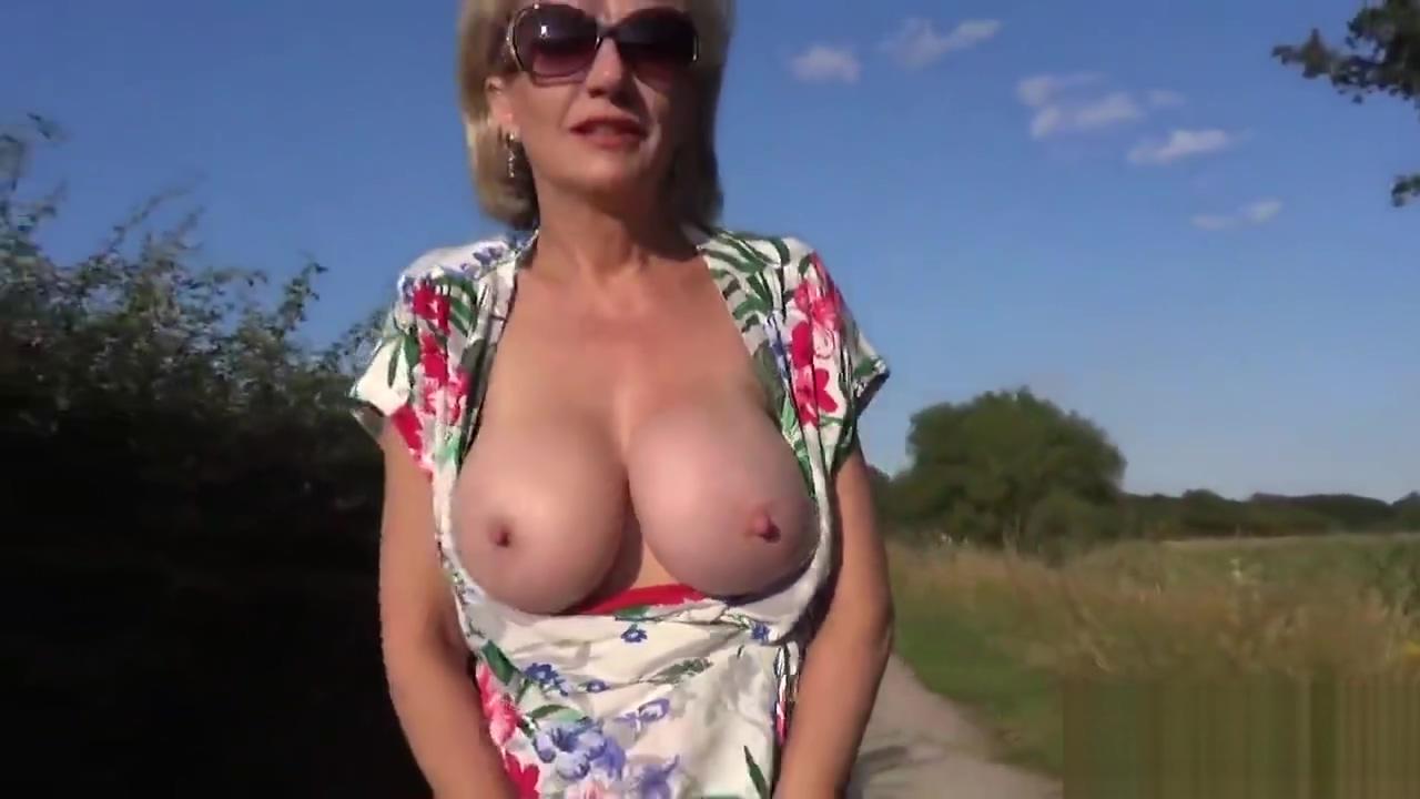 Unfaithful british milf lady sonia flaunts her giant tits