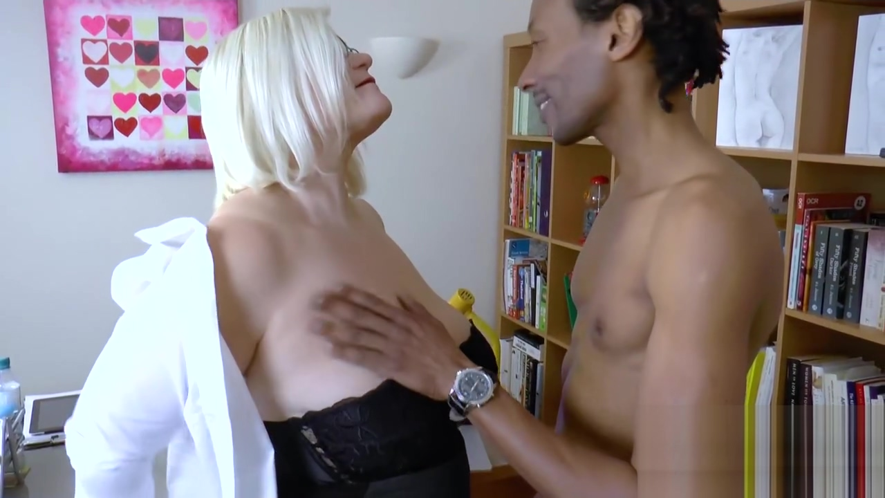 Blonde mature got fucked hardcore by big black dick strapon wonder blonde is given treatment 4