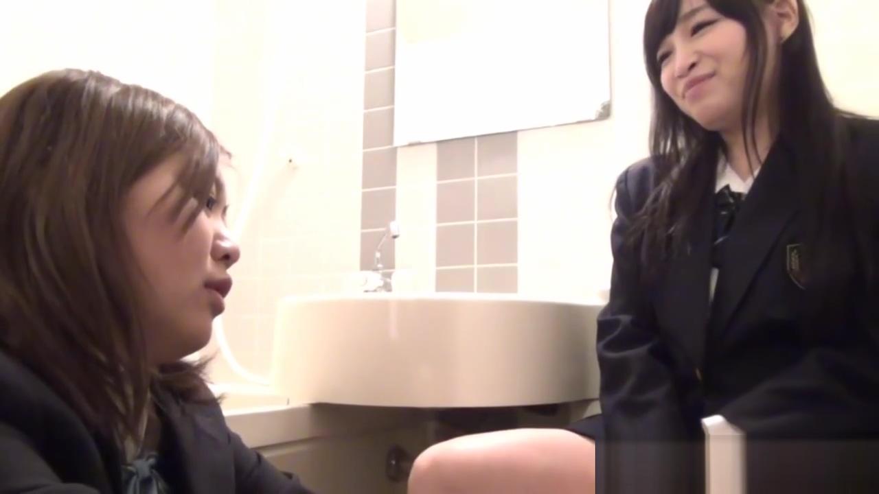Japanese lez touches cunt