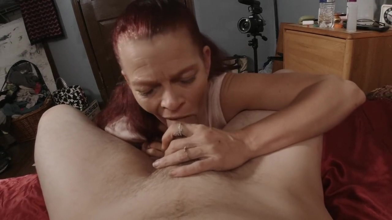 Tonys mother (Mrs. S) pays the interest by blowing, rim job, oral cream pi 40 something hairy pussy