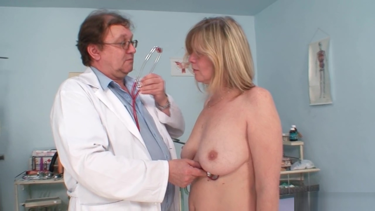 Mature woman gets herself checked out Your boobs are so hot