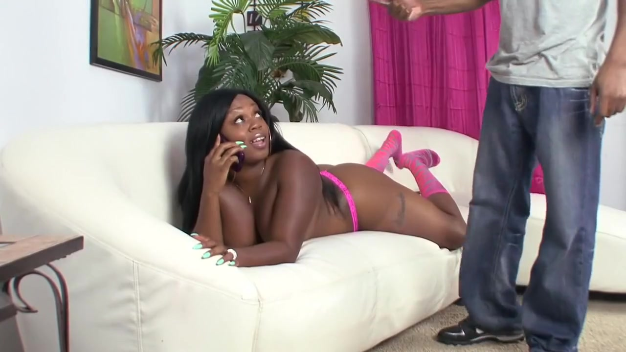 Pics Gallery Big black booty in pink thong