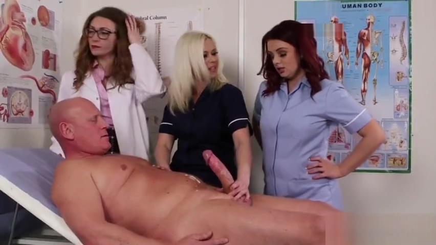 Cfnm doctor relieves huge cock