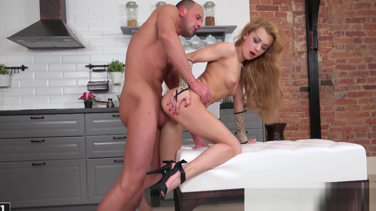 Ass gaping babe buttfucked from behind