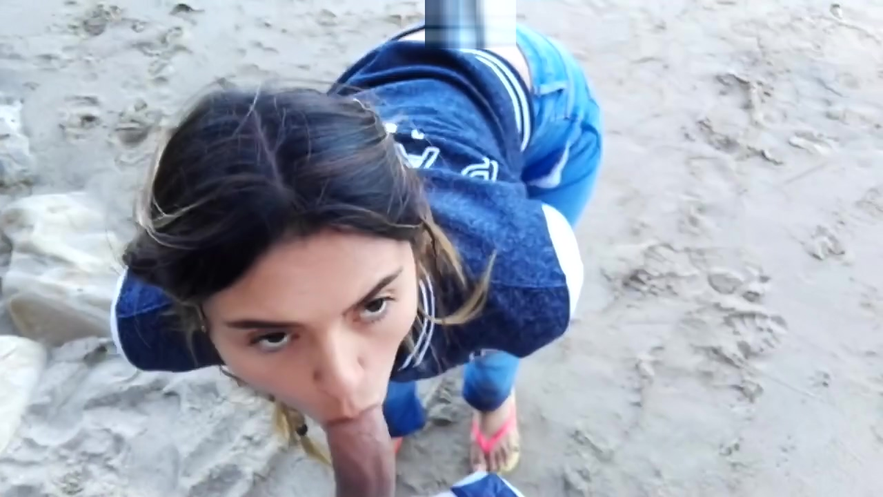 Blowjob and Swallowing on the Beach Lick my ass and smell my feet