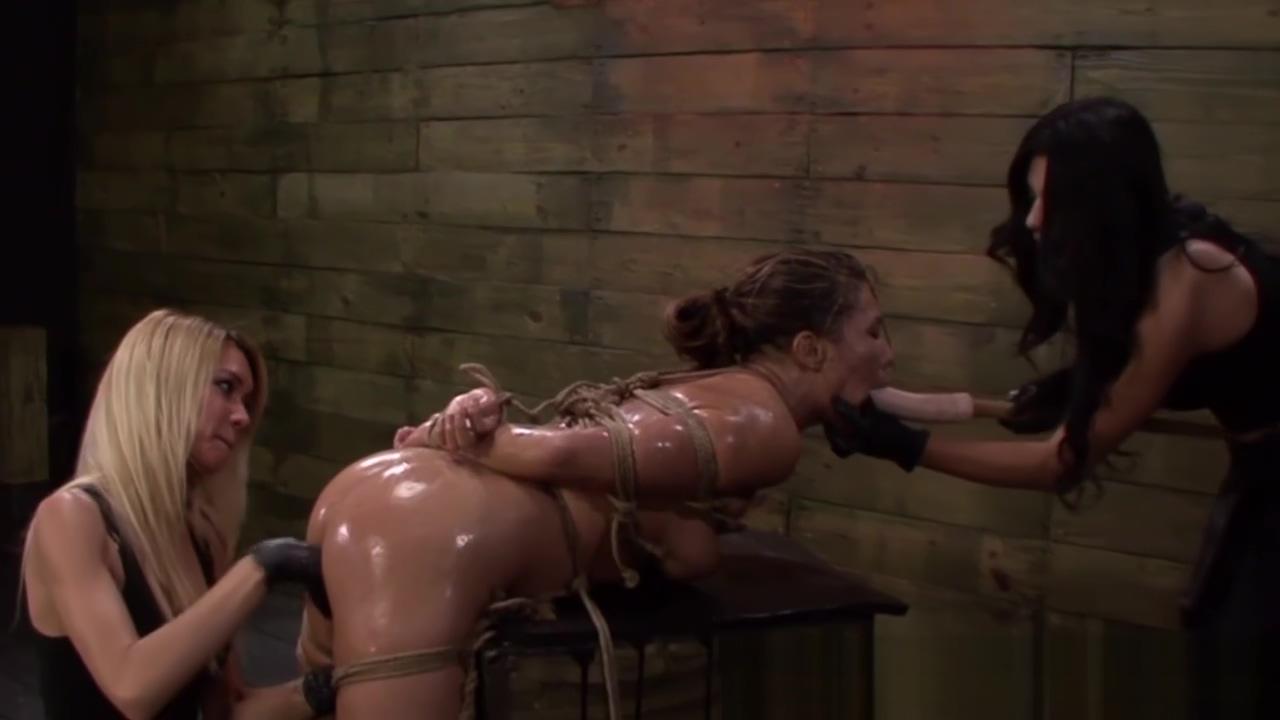 Strapon lezdom dildofuck bonded submissive Rapidshare femdom spanking