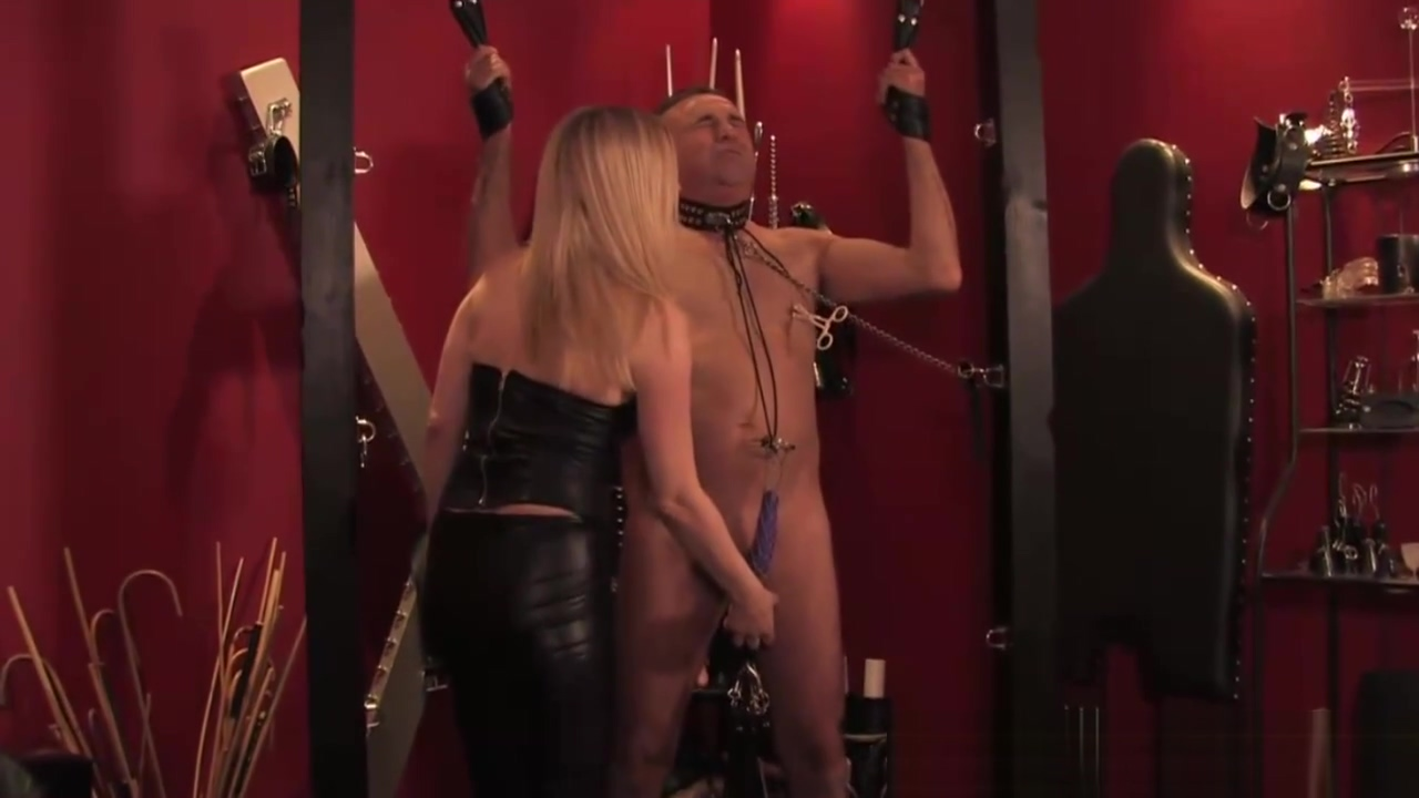 English femdom clamping bound subject
