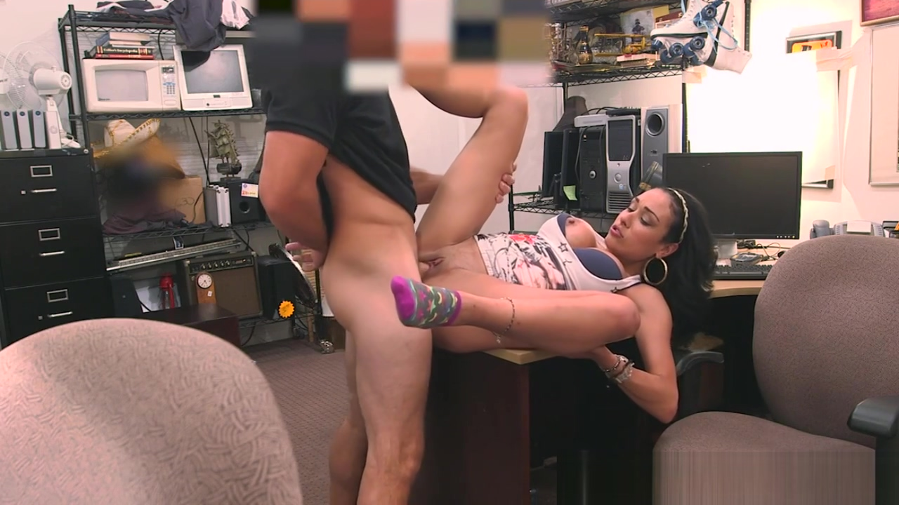 Busty pawnshop latina fucked in the office Free oral sex trailer