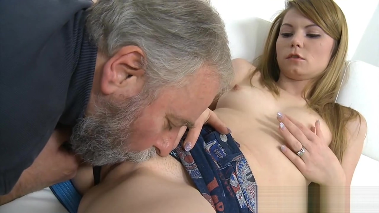 Skillful old guy slams pussy Big tits brunette naked in public