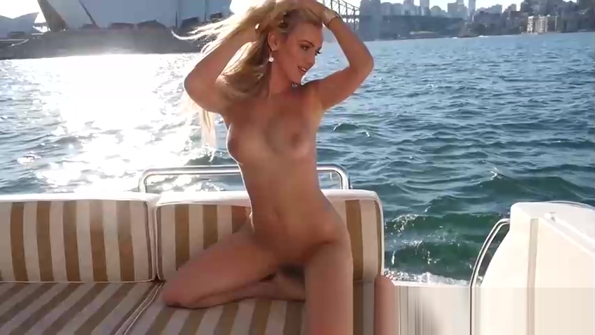 Blonde babe with big tits passion dancing in a lingerie