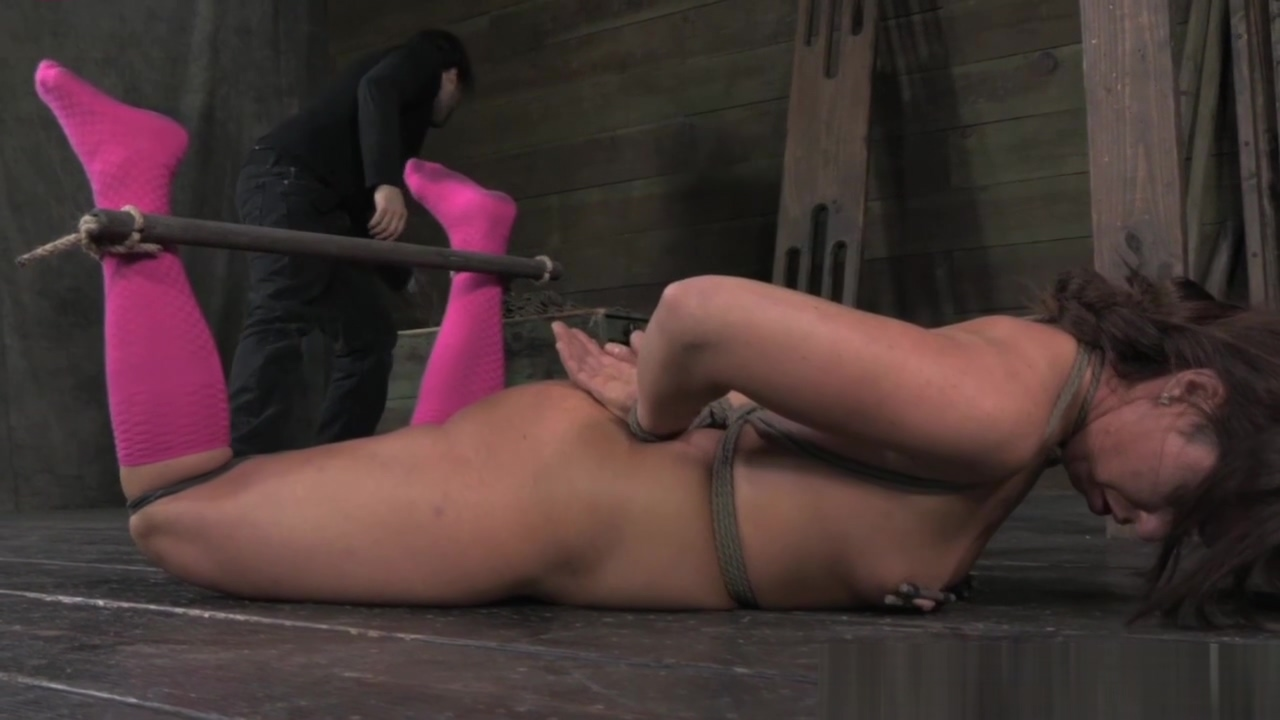 BDSM sub nipples and pussy lips clamped