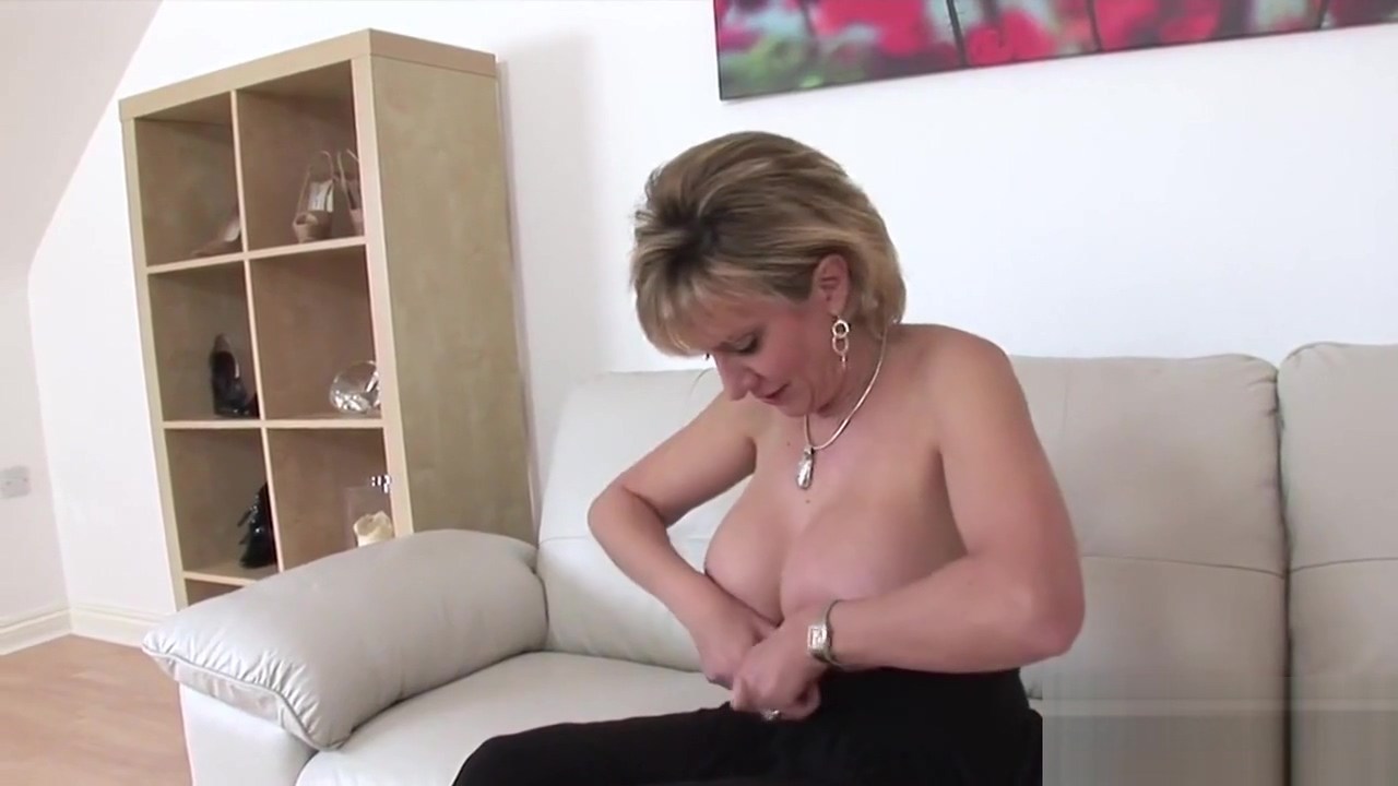 Cheating british mature lady sonia reveals her heavy tits feminized husband sucks a cock