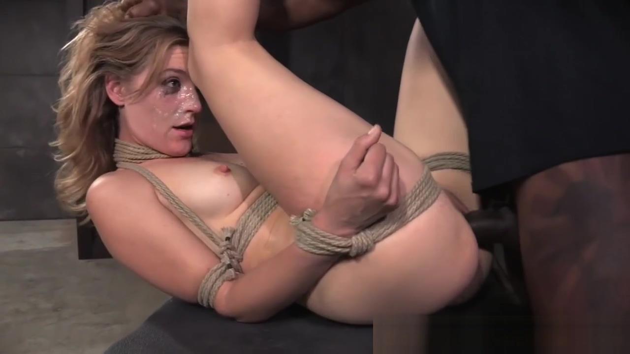 Bonded sex slut gets hardcore spitroasting