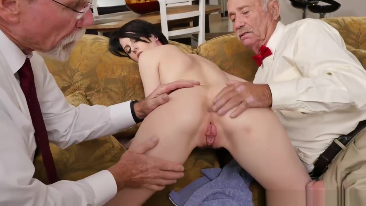 Two old men fucking the hot chick Alex Harper Hot Punk Chick