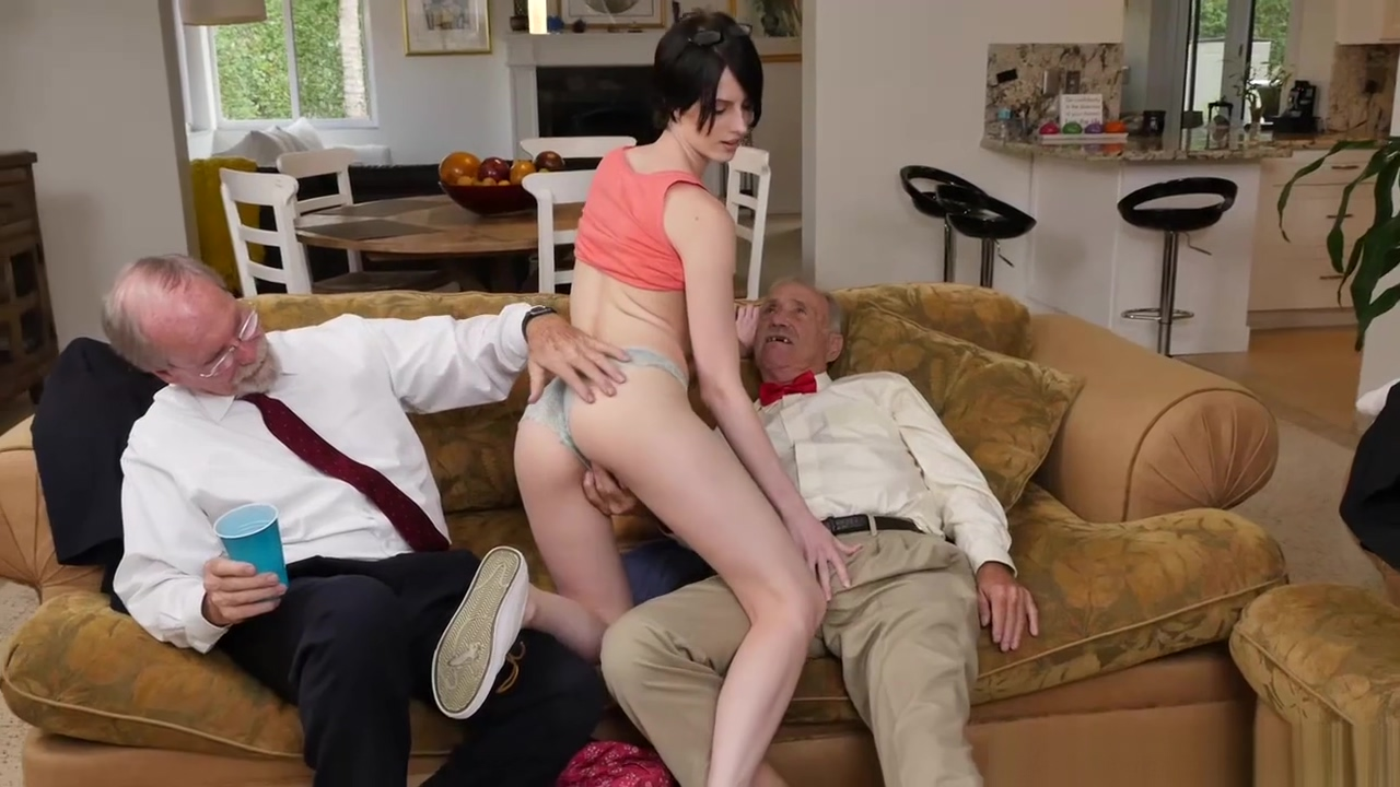Alex Harper sucking off old mens cocks
