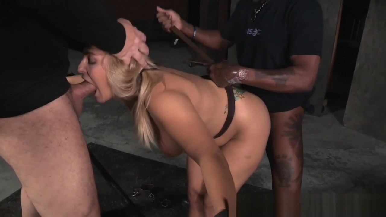 Busty tattooed sub bonded and spitroasted Girl nude in Belfort