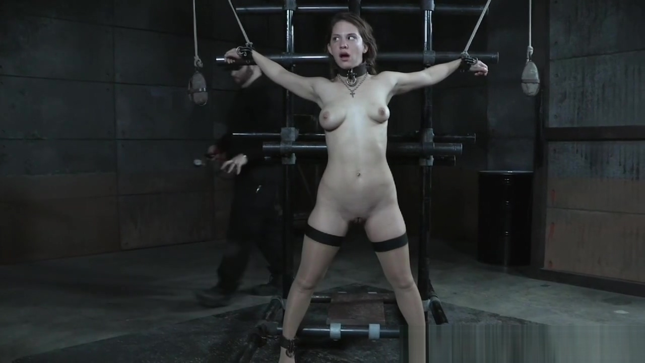 Restrained sub getting her nipples punished ebony and ivory in the