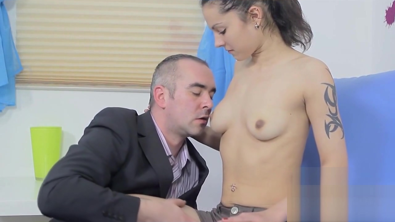 Fervent college girl gets seduced and screwed by her aged instructor