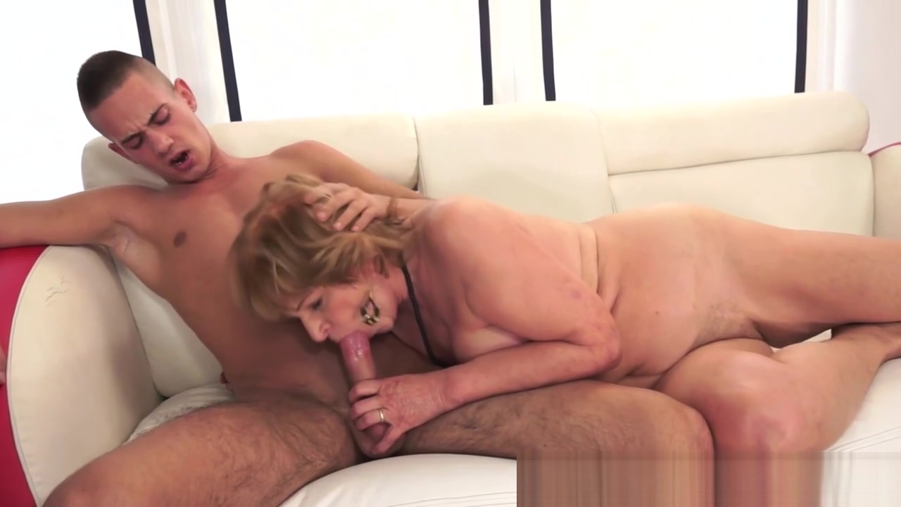 Grandma spits out jizz Naked girl shows off body