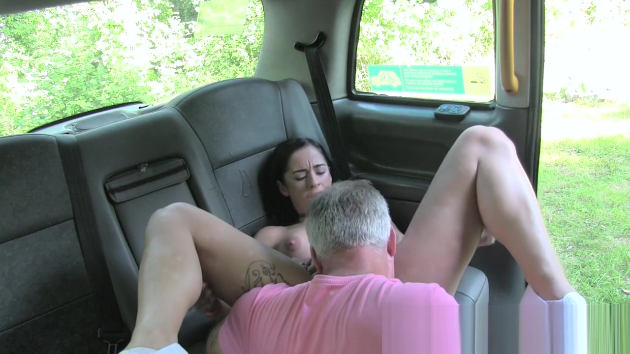 Big boobs tattooed babe fucked in fake cab and outdoor Positions for a woman to orgasm