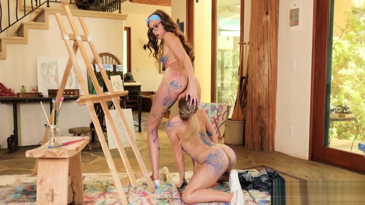 Aubrey Sinclair Elena Koshka in Painting Her Pussy Extreme cuckold sissy femdom