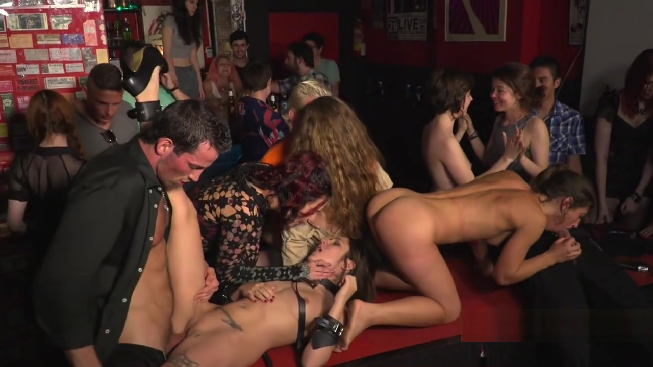 Two slaves orgy banged in public bar Black cock free picture suck wife