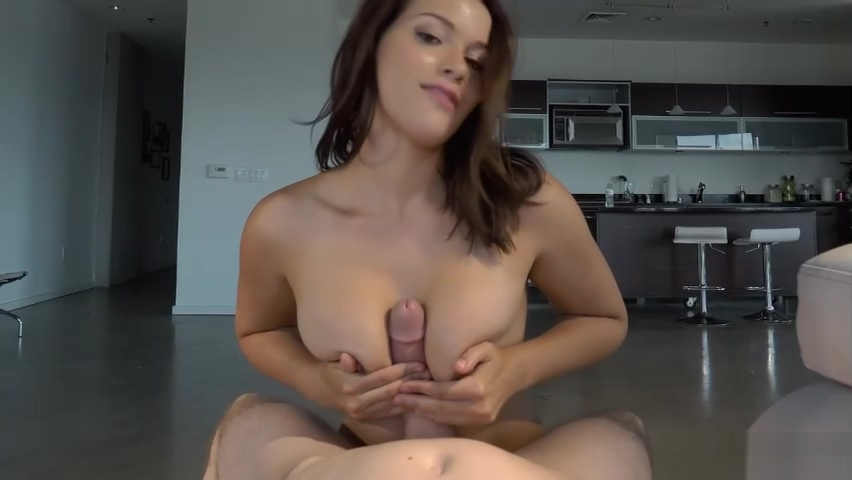 POV babe blows cock and balls on her knees before being pound
