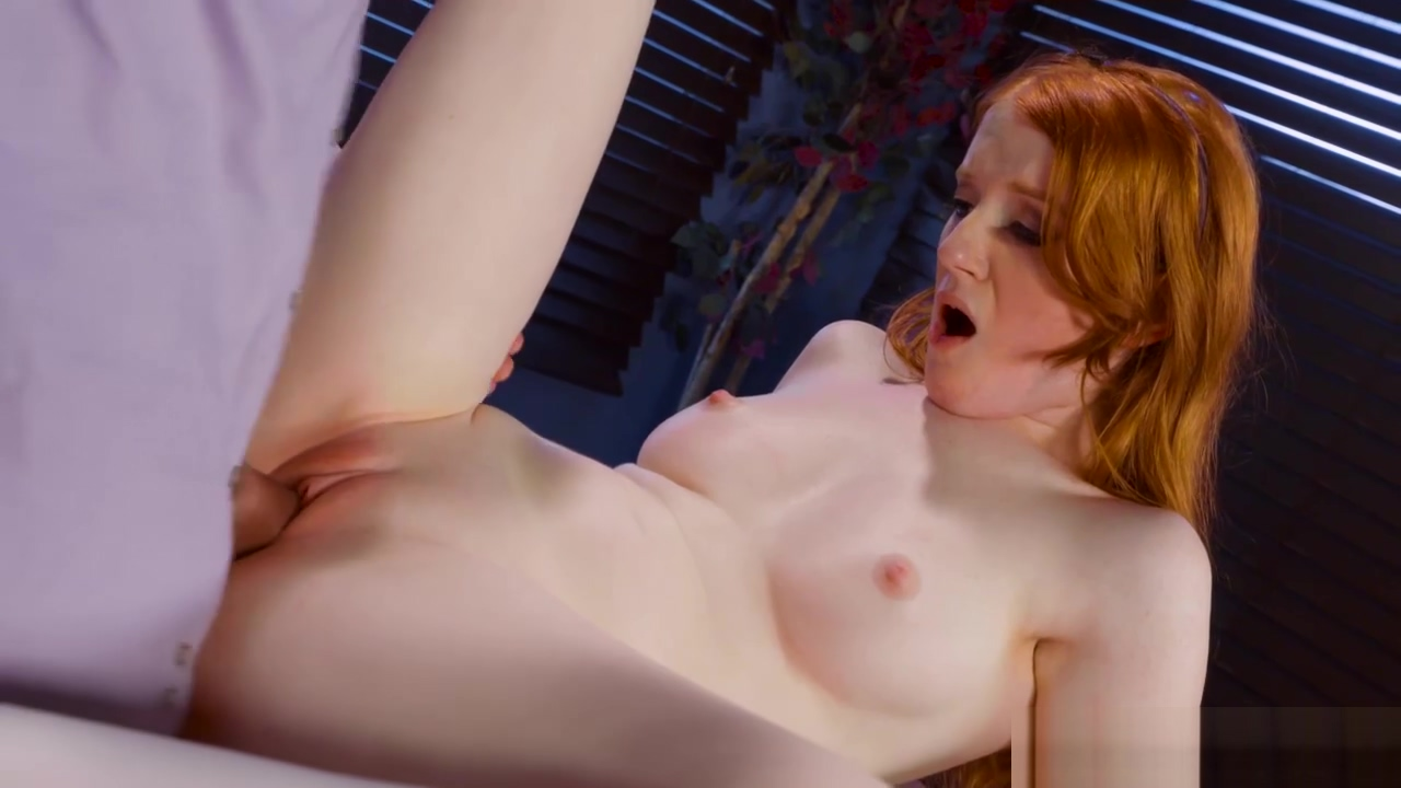 Hot Redhead Krystal Orchid seduces her prof Holes with cum porn