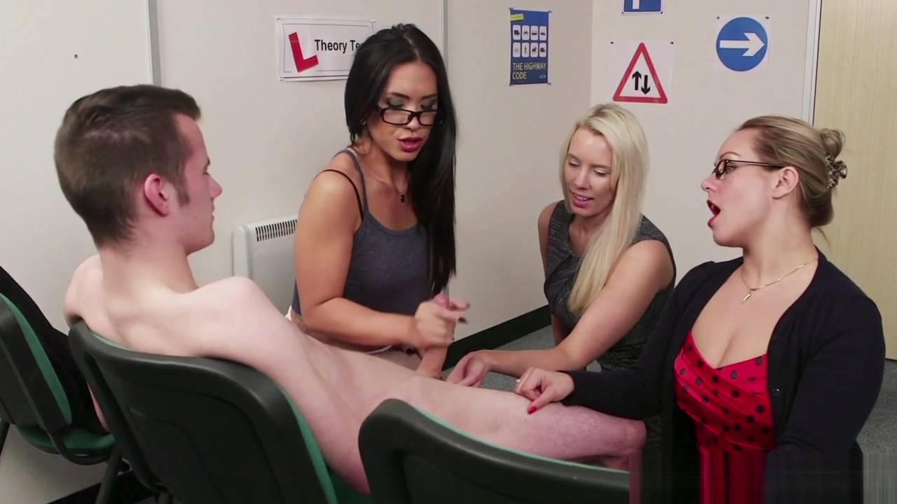 CFNM milf teachers tugging cock together Seduced bookworm