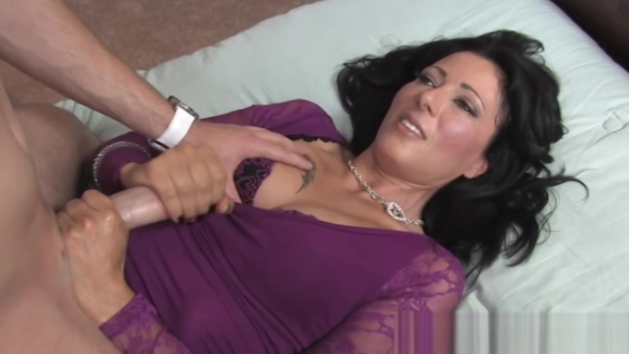 Glamorous cougar wanking dick in POV Naughty lingerie porn