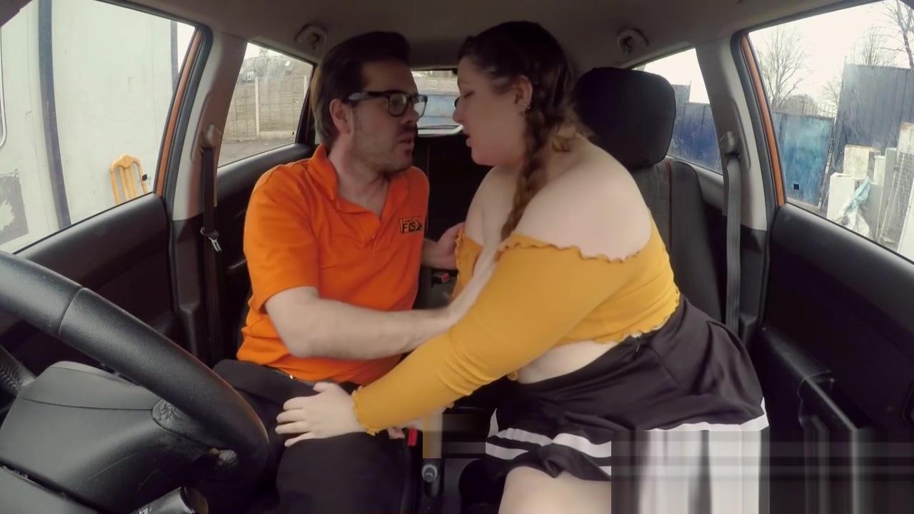 Cute BBW crashes the car for REAL Erotic african girl masturbate penis cumshot