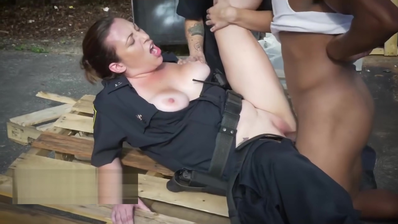 Busty cops need sexual attention too Pussy face mask