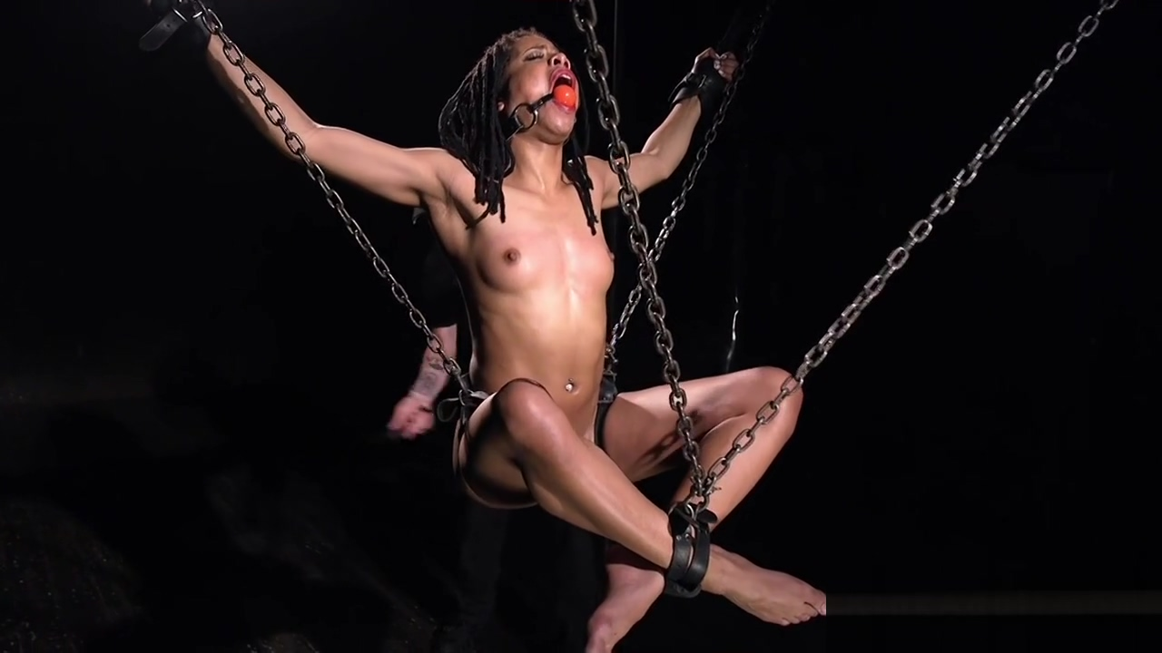 Ebony hottie in neck trap and chains interracial porn pay sites