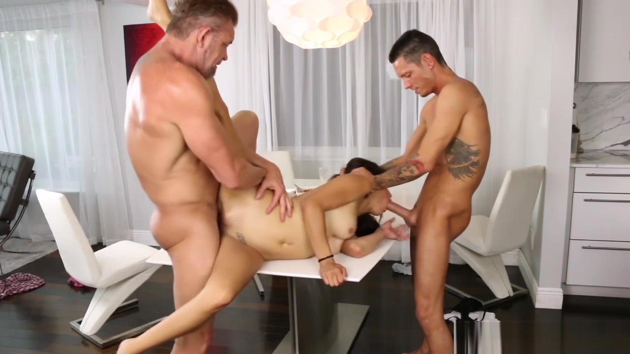 Michelle Martinez doggystyle by step bro while sucking Tonys cock